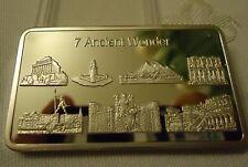 7 Weltwunder - Medaille - Silberauflage