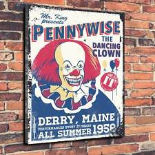 "IT. Pennywise The Dancing Clown Printed Canvas A1.30""x20"" 30mm Deep Stephen King"