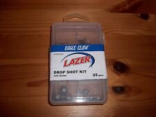 2 box lot 50 pieces Eagle Claw Lazer Drop Shot Kit Hooks Round Sinkers Hook