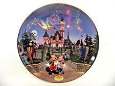 Bradford Exchange Sleeping Beauty'S Castle Plate Disneyland's 40th Anniversary