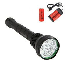 TrustFire 15000Lm 12x CREE XM-L T6 LED Flashlight Torch Hunting 3x26650 Charger