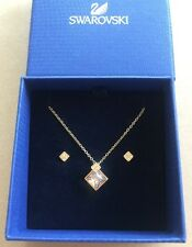 Swarovski Clear Crystal Goldtone HONEY SET Necklace & Earrings #5030702 NEW BOX