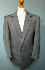 Vintage bespoke grey herringbone tweed suit size 40 42