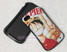 Cute glossy One Piece Luffy Yeah soft rubber extra bumper case cover iPhone 4/4s