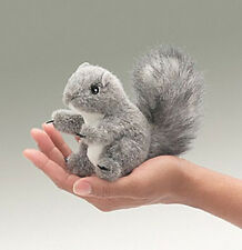 GRAY SQUIRREL Finger Puppet #2648 ~FREE SHIPPING in USA ~ Folkmanis Puppets