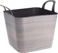 Flexible Plastic Storage Log Basket & Handles Very Strong Large Garden Rubbish