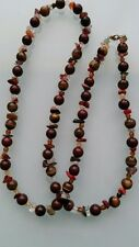 Tiger's Eye & Poppy Jasper Handmade Necklace - Perfect Gift!