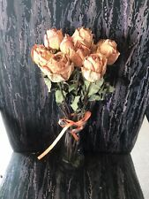 11 Dried Light Apricot Roses for Bouquets, Wreaths, Weddings, Crafts,Potpourris