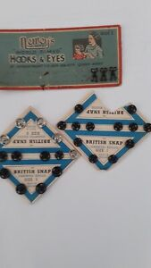 Collection of Vintage Dress Making Fasteners - Snap and Hook and Eyes