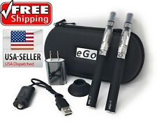 Double Starter Kit 2X 1100mAh Battery eGo 2x CE4 Tanks Accessories, Zipper Case