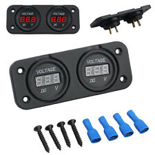 Dual Battery Monitor DC 12v 24v LED Digital Volt Meter Boat Voltage Marine Gauge