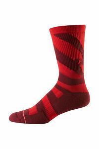 """Fox Mountain Bike 8"""" Trail Cushion Sock Cardinal Size S/M"""