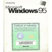 "Microsoft Windows 95, 3.5"" Floppy Disc, Original Certificate, New in Shrink Wrap"