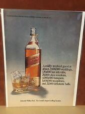 1970 Vintage  Walker Red Blended Scotch Whiskies  Print Ad