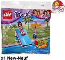 Lego - Polybag Friends Emma Toboggan piscine Pool Foam Slide 30401 NEUF