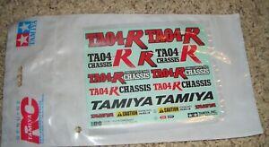 58282 Tamiya TA04-R Chassis Decal Sheet
