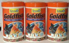 3 Pack Tetra Goldfish Vitamin C Enriched Flakes Pet Food 2.2 oz Exp 01/22 later