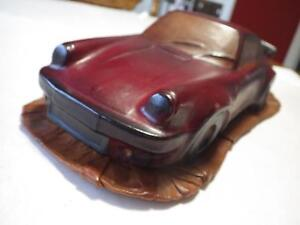 Cuir Marine (France) Red-Brown Porsche Carrera RS Coupe Leather 1:12