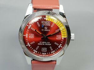 Vintage Helbros Mechanical Handwinding Analog Mens Wrist Watch WU24 A