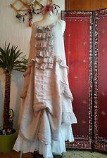robe bohème en lin style rhum raisin