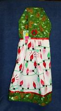 **NEW** Handmade Old Fashioned Christmas Lights Hanging Kitchen Hand Towel #1651
