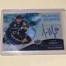 2009-10 Upper Deck Ice Glacial Graphs Tyler Myers Rookie Autograph Acetate