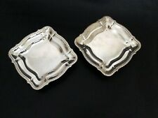 Two French Antique Square Candy/Pastry Dishes - Tableware Serving Pieces