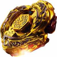 Bey Blade Toy Metal Fusion Launcher 4D Set L-DRAGO GOLD Kids Game Gyroscope New
