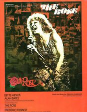 THE ROSE with Bette Midler - 1977-Sheet Music-used