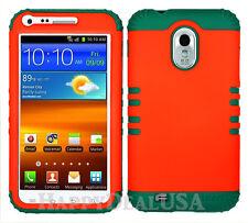 KoolKase Hybrid Cover Case for Samsung Galaxy S2 D710 R760 - Orange (FL)