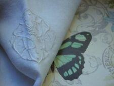 Vintage Tea Towel Ivory Cotton ESR Initials Monogrammed Embroidered