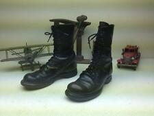 VINTAGE USA MADE DISTRESSED DOUBLE H MILITARY JUMPER MILITARY BIKER BOOTS 7.5 M