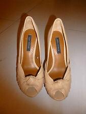 Escarpins/chaussures femme ZARA 36 beige ouvert à l'avant