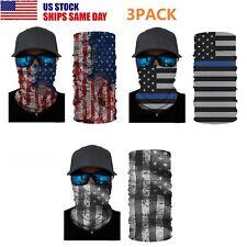 3Pcs Usa Flag Balaclava Fishing Shield Bandana Face Mask Neck Gaiter Hiking