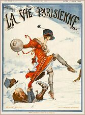 1920 La Vie Parisienne Breaking Ice French France Travel Advertisement Poster