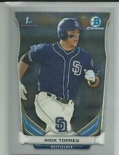 Nick Torres San Diego Padres 2014 Bowman Chrome Draft Card