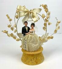 Vintage Bride & Groom Cake Topper