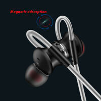 Metal Magnetic Sport 3.5mm In-Ear Stereo Earbuds Headphone Earphone Headset MIC