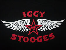 IGGY & THE MARMITTONI Raw Power Tour 2010 UFFICIALE doublesided T-Shirt Punk Bowie