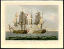 1817 Antique Print - CAPTURE OF LA PROSERPINE NAVAL BATTLE French War 1795 (17)