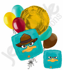 7pc Agent P Happy Birthday Balloon Bouquet Party Decoration Cartoon Phineas Ferb