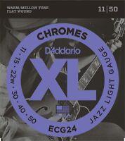 D'Addario ECG24 Chromes Flat Wound Jazz Light 11-50 Guitar Strings