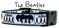 "The Beatles dog collar handmade adjustable buckle 1"" or 5/8"" wide or leash"