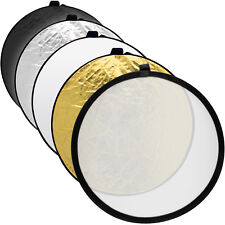 """60cm (24"""") 5 in 1 Collapsible Round Disc Studio Light Reflector + Carrying Case"""