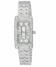 Croton Womens CN207539RHMP Balliamo Rhodium Crystal Accented Quartz Watch