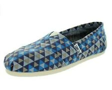 Toms Women's Classic Slip On Flat Blue Geo Print 8.5