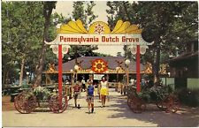 PA Dutch Grove at Kennywood Park in Pittsburgh PA Postcard Amusement Park
