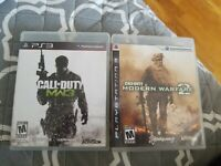 CALL OF DUTY MODERN WARFARE 2 & 3 PLAYSTATION 3 PS3 Lot Bundle Set Complete CIB