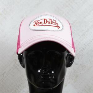 Mens Von Dutch Trucker Cap Pink/Red 112216 (G1) RRP £29.99