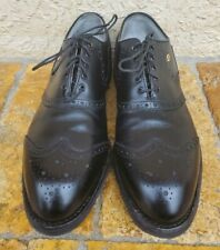 Footjoy Classics Wingtip Spikeless Golf Shoes Black Leather Us Men'S 11 C 55186